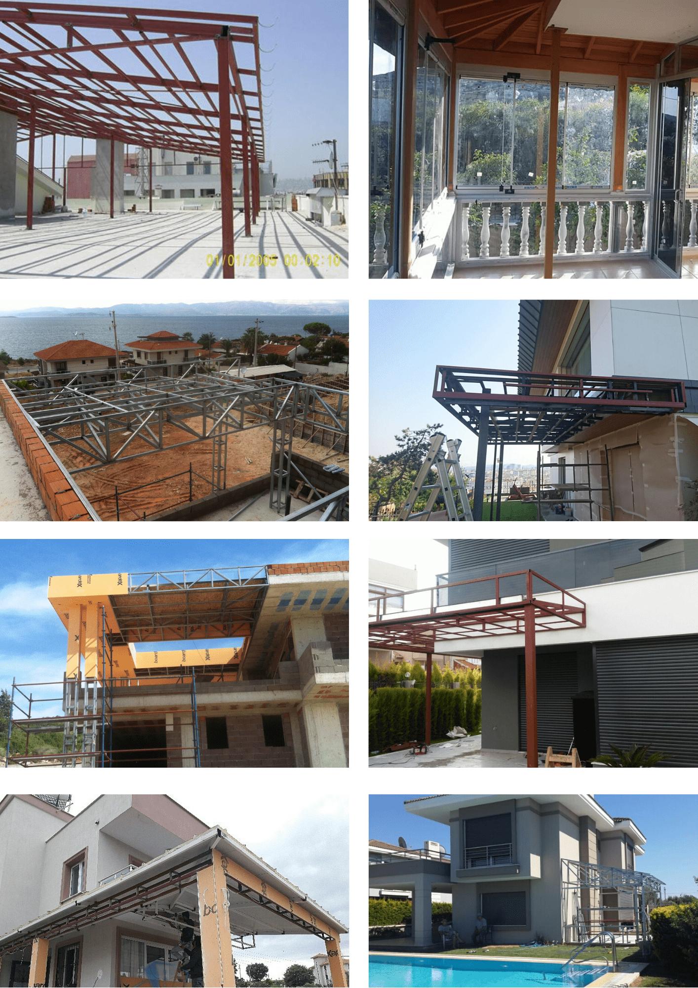 İzmir demir pergola sistemleri