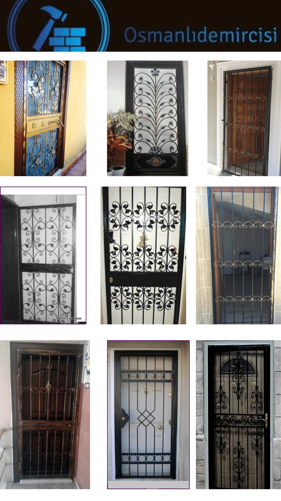 İzmir ferforje kapı korkuluk fiyatları