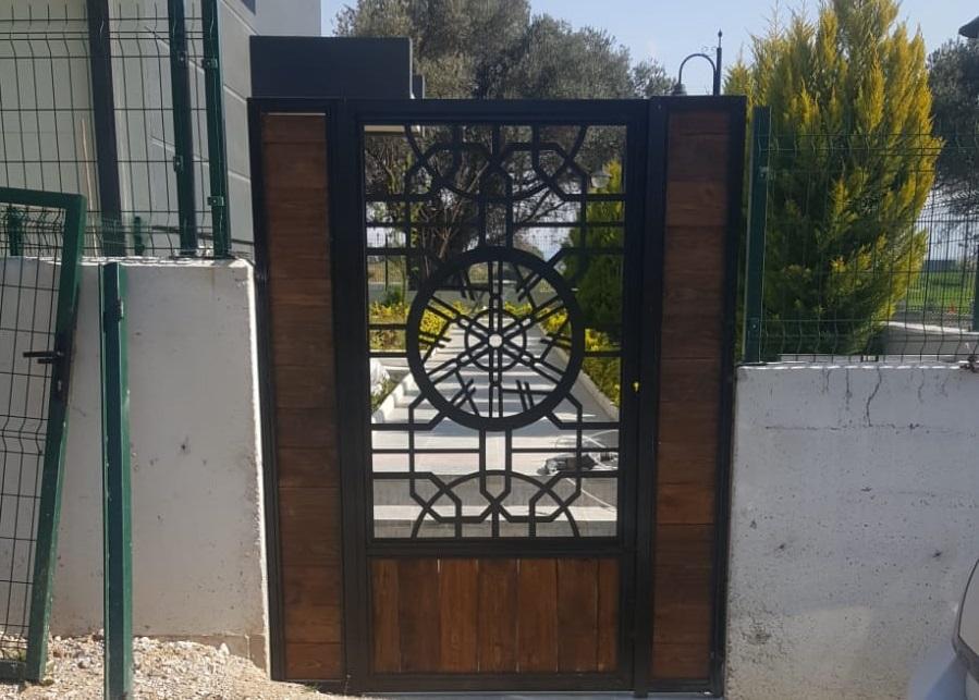 Lazer kesim villa bahçe giriş kapısı İzmir